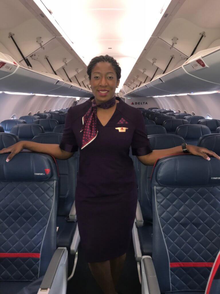 Joy Iromuanya on aircraft